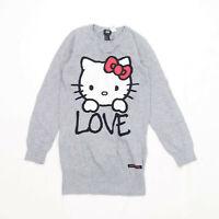 H&M Girls Graphic Grey Hello Kitty Jumper Dress Age 11-12 Years