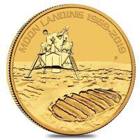 2019 1 oz Gold Moon Landing 50th Anniversary BU Australia Perth Mint In Cap
