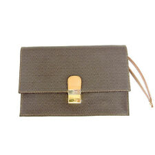 Mario Valentino Clutch bag Brown Beige Woman unisex Authentic Used T170