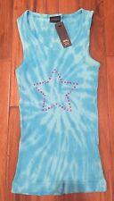 NWT $36 S XS Patriotic USA American Patriotic Star Shirt Tank Top July 4