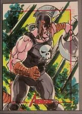 Marvel-Avengers-J David Lee-Hercules-?-Comic-SketchaFEX Card-Sketch Card-2012