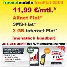 Handyvertrag Sim Only Smartphone Handy Vertrag Allnet Flat 2GB Internet Flatrate