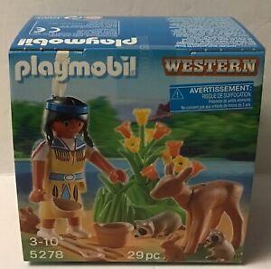 Playmobil  Easter Egg - 5278 Western/Indian w/Deer   -  NEW -2012