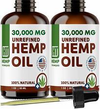 Unrefined Hemp Seed Carrier Oil - Pure,Organic, Natural Hemp 1 oz 2 Pack
