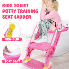 New listing Potty Trainer Toilet Seat Chair Kid Toddler With Ladder Step Up Training