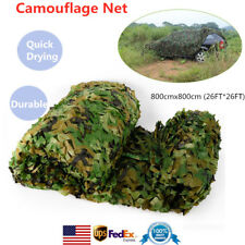 8x8M Camouflage Net Military Camo Hunting Car Cover Camping Tent 26x26Ft Usa