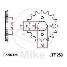 JT Ritzel 17 Zähne 428 Teilung ID 18/20mm JTF259.17 / 7264039 JT Sprockets