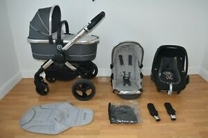 Travel System 3in1 iCandy Peach 3 in Truffle inc Seat Liner