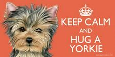 Keep Calm And Hug A Yorkie Full Color Car Fridge Dog Magnet 4x8 Waterproof