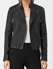 All Saints Kerr Biker Jacket In Black. Size 10 UK