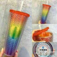 Starbucks China 2021 24oz Valentine's Rainbow Diamond Studded Tumbler CUP