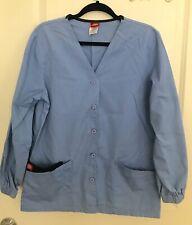 Dickies Scrubs Women's Warm Up Jacket Baby Blue Size S