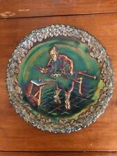 1970 Vintage FENTON American Craftsman CARNIVAL GLASS PLATE