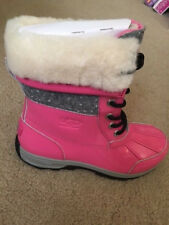 Ugg Australia Girl's Butte Ii Pink Snow Boots - 4 Youth - New