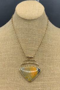 Barse Kichi Necklace- Bumblebee Jasper- Bronze- NWT