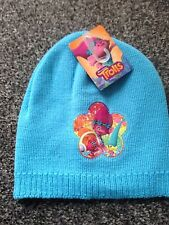 NEW - TROLLS - DREAMWORKS - Boys Knitted Beanie Winter Hat -  BLUE