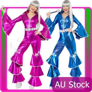 Licensed 60s 70s Dancing Queen Costume Disco Retro Smiffys Tribute Fancy Dress
