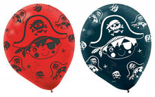 LITTLE PIRATE Pack of 6 Party Balloons Kids Birthday Decorations Helium Red
