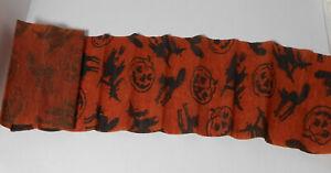 Vintage Halloween Jack O Lantern Witch Cat Crepe Paper Streamer 23 feet long
