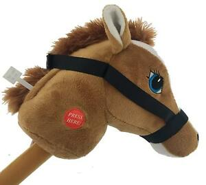 """29"""" Stick Horse Giddy-up and Go Pony w/ Real Sound Pretend Play Toy Kids - Tan"""