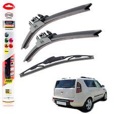 """Kia Soul 2009-on HEYNER SUPER FLAT PREMIUM wiper blades 24""""20""""10""""C"""