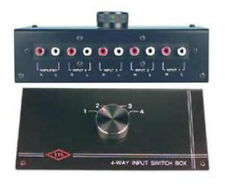 NEW 4 RCA Input Source Audio Selector.Stereo Switch Inputs.change Amplifier.CD.