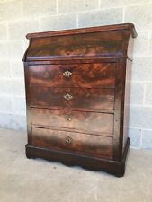 ANTIQUE FLAME MAHOGANY MARBLE TILT TOP 4 DRAWER WASH STAND-VANITY