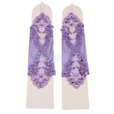 Viola Bridal/Prom/di raso pizzo guanti senza dita fantasia accessori festa matrimonio