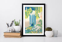 HOKUSAI YORO WATERFALL FRAMED ART POSTER PAINTING PRINT ARTWORK 4 SIZES