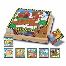 Melissa And Doug Pet Scene Wooden Cube Puzzle NEW Toys Fun Kids