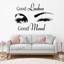 Good Lashes Beauty Salon Wall Stickers Decal Eye Eyelashes Vinyl Decor Shop Art
