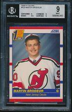 1990-91 Score rookie #439 Martin Brodeur rc BGS 9 Mint