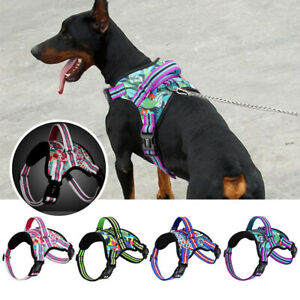 No Pull Dog Harness Reflective Pet Vest Harness With Handle Adjustable Padded XL
