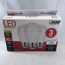 Feit Electric A1540/10KLED/3 Non-Dimmable LED Bulbs 120 V 300 Lumens Warm White