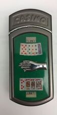 Vintage Casino Cigarette Lighter with Cards and Moveable Hand