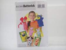 Butterick B4209, Hand Puppets, Bear, Pig, Cat, Dog, Monkey, Mouse, Bunny Pattern