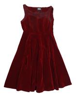 Hearts & Roses Womens Size 14 Burgundy Tea Dress (Regular)