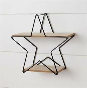Rustic Star Wall Shelf
