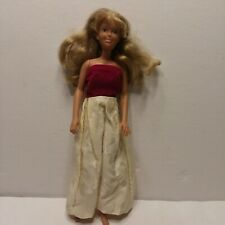 1987 Hasbro Maxie Doll w/ Red and White Dress Blonde Blue Eyes
