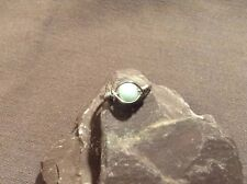 Natural Amazonite Gemstone Silver Wire Wrapped Ring Size 7/N