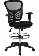 Flash Furniture Mid-Back Black Mesh Ergonomic Drafting Chair