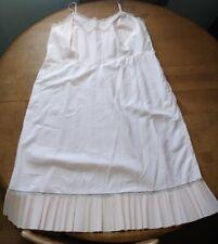 Vintage ENDEAR BARBIZON TAFREDDA Pink Pleat Hem Full Slip Size 42 1950's #34
