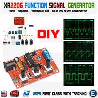 XR2206 Function Signal Generator DIY Kit Sine Output 1HZ-1MHZ Unassembled