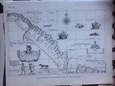 Decorative Book Plate Map Guyana 1646 -7 From Dudley's Dell Arcano Del Mare