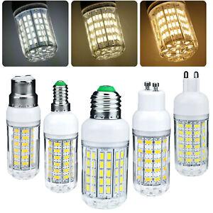 LED Corn Light Bulbs E27 E26 E12 E14 G9 GU10 B22 5730 SMD 24 - 72 LEDS Lamp HOL