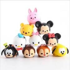 10pcs/set Disney Tsum Tsum Pvc mickey Minnie winnie pooh toys doll gift with box