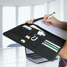 Black Pad folio Notepad Planner Organizer Pocket Holder Card Slot Case