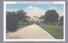 FASSIFERN APARTMENTS,1035 FLEMING ST.HENDERSONVILLE NORTH CAROLINA 1950 LINEN!