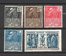 France 1931 Yvert n° 270 à 274 neuf ** 1er choix