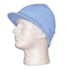 Sky Light Blue Ski Cap Knit Beanie Skully Winter Hat Radar Style Jeep Brim